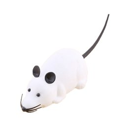 Discount toy rats wholesale - ABWE Best Sale Funny Remote Control RC Wireless Rat Mouse Toy for Cat Dog Pet Novelty Gift White