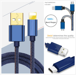 color sync usb iphone 2018 - Cowboy Braided Micro USB Charger Cable 1M Data Sync Fast Charging Cord Universal For Iphone Samsung galaxy S8 S7 S6 Note