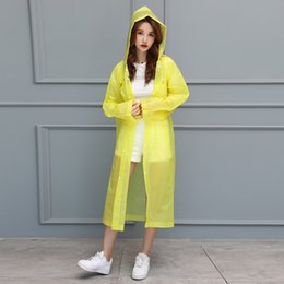 TINGQI Raincoat Portable Rain Cape Poncho With Hat Hood For Coat Women  Outdoor Travel Y1002 e9cce9965640
