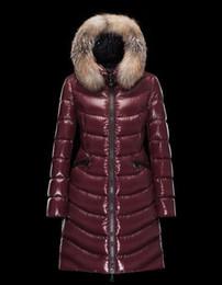 $enCountryForm.capitalKeyWord Australia - Famous Brand classic Design Fur hat Women Down Jacket long down stand collar Winter Overcoat Outdoor Coats Clothes