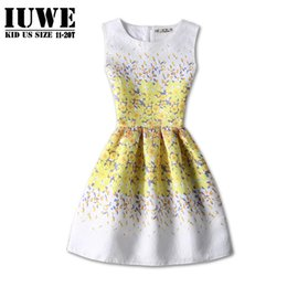 kids dresses for girls 16 NZ - Girls Dresses Summer 2017 Kids Dresses For Girls Of 12-16 Years Sleeveless Yellow Printed Teenager Girls Dress Robe Fille Enfant