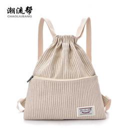 Linen Women Cloth NZ - Korean new women bag fashion backpack lady waterproof laptop bag junior high school student linen cloth shoulder YD42