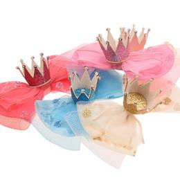 $enCountryForm.capitalKeyWord UK - 54PCS Mesh Lace Bow No Hair bows Hair Claw Clip Crown Bow No Clips Boutique Head wrap DIY Accessories Flower Accessory