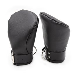 $enCountryForm.capitalKeyWord Australia - hand restraints dog palm gloves cosplay handcuffs fetish play couples flirting sex toys adult products faux leather GN252400209