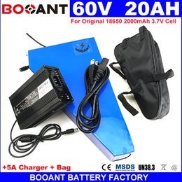 Motor Bicycles Australia - Triangle Electric Bicycle Battery pack 60V 20AH E-bike Lithium Battery for Bafang 1500W 2500W Motor +5A Charger free Shipping