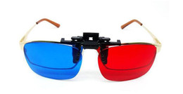 100pcs   lot Clip bleu Cyan rouge 3D sur des lunettes de vue en Myopie pour 2efafe52707c