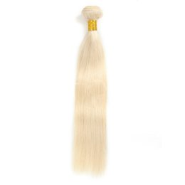 Unprocessed Virgin Blonde Hair Wholesale UK - 7A 613# Malaysian Hair Straight Unprocessed Blonde Brazilian Virgin Human Hair 3 or 4 Bundles Peruvian Straight Hair Weave