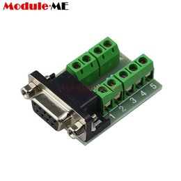 adapter terminals 2019 - DB9 Male Adapter Signals Terminals Module RS232 Serial to Terminal DB9 Connector Board cheap adapter terminals