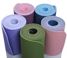 quality mats 2019 - Double Skidproof 6mm TPE Yoga Mat 6mm Fitness Mat Fitness Yoga Sport High Quality Gymnastics Mats with Balance Pad cheap