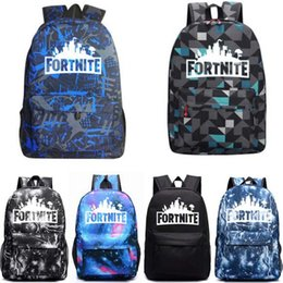 Wholesale Fortnite Royale Battle Cosplay noctilucent backpack teenager fashion Drawstring bag Shoulder bags Kids Gift Beach Pouch Pocket