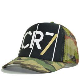 7c4b254cea2 2018 Trucker Cap for Men Camouflage Mesh Baseball Cap Hip Hop CR7 Fans  Summer Hat for Women