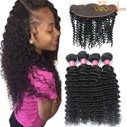 Discount human laces - Peruvian Deep Wave Hair Bundles With 4x13 Lace Closure Peruvian Deep Wave Human Hair Weave Bundles Ear to Ear Lace Front