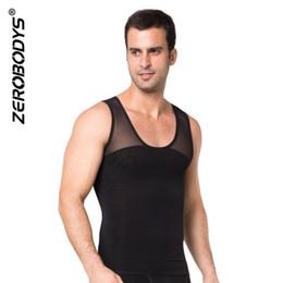 d53d465b7 Men Top Clothes Hot Shapers Body Shapewear Zipper Double Stretch Mesh Slimming  Corset For Men Waist Trainers Vest