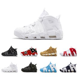 Wholesale 2018 New Uptempo QS Scottie Pippen Triple White Olympic Bulls UNC Gym Red Flax Men Basketball Shoes M Scottie Pippen Sports Sneakers