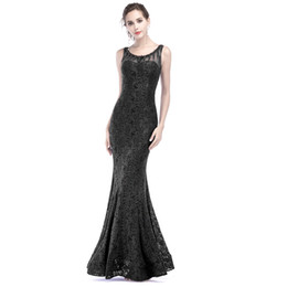 $enCountryForm.capitalKeyWord UK - 2018 Black Lace Evening Dresses Scoop Beaded Sleeveless Mermaid Long Formal Evening Prom Gowns Plus Size Sheer Back Prom Gowns