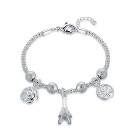 925 Silver Bracelet Price NZ - Brand new!Fashion trend small fresh hand chain 925 silver bracelet JSPB597;low price girl women sterling silver plated Charm Bracelets
