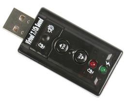 Haute qualité JP209-B CM108 Mini USB 2.0 3D externe 7.1 canaux son virtuel 12Mbps carte son audio adaptateur