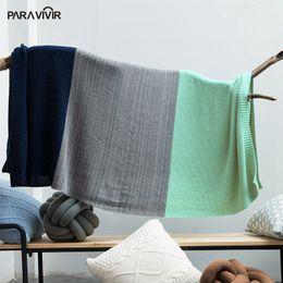 $enCountryForm.capitalKeyWord NZ - Wholesale-PARA VIVIR New Arrival 100% Cotton Blanket Gradient Color Plaids Bedspreads Travel Sofa Knitted Throw Blanket Soft Warm Cobertor