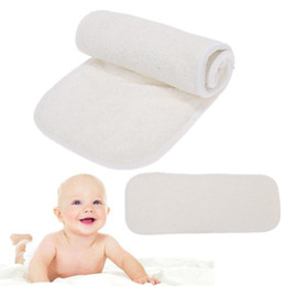 infant care products NZ - 4-Layer Bamboo Fiber Diaper Insert Reusable Nappies Baby Diapers Infant Baby Soft Cloth Nappy Diaper Baby Care Products