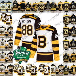 a7eebfe5c 2019 Winter Classic Boston Bruins  88 David Pastrnak 63 Brad Marchand 33  Zdeno Chara 40 Tuukka Rask White Men Youth Women Kid Jersey