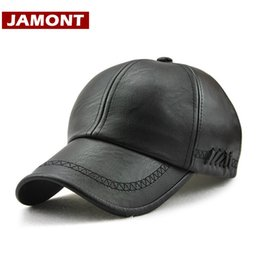 $enCountryForm.capitalKeyWord Australia - [JAMONT] New Design Men Baseball Cap Winter Snapback Hat 100% PU Leather Hats Winter Male Caps Simple Style Casquette