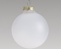 $enCountryForm.capitalKeyWord NZ - Promotion - DIY Paintable Clear Christmas Xmas Tree Decoration 80mm Frosted Glass Ball Ornament - 5 Pack