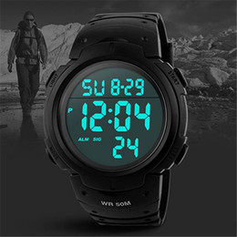 Men Digital Wrist Watches Australia - Fashion Sport Watch Men Waterproof Alarm Calendar Timer Luminous Electronic LED Digital Wrist Watch Male Clock For Men Relogio