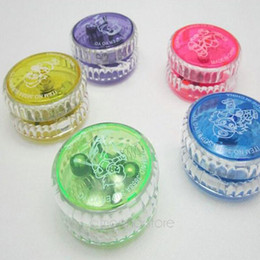 Metal Yoyo For Kids Australia - Flashing YOYO LED Glow Light Up Flash Yo-Yo Toys for Kids Party Entertainment Favors Trick Children Favorite Game Gifts