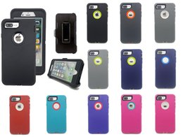 Vente en gros Pour iPhone X Max XR 6 6s 8 7 Plus Coque Étui Defender Étanche Hybride Imperméable À L'eau Samsung S10 Plus Clip Emballage Livraison Gratuite