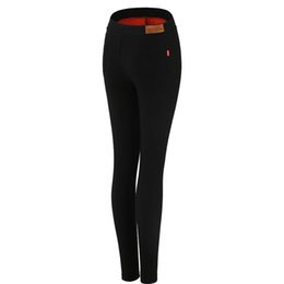 Thick fooTed leggings online shopping - New leggings female wear plus velvet thick black was thin Korean wild pencil feet pants