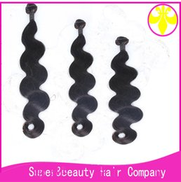 Dyeing Hair Black Australia - grade 7a india hair body wave black color support dye