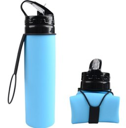 $enCountryForm.capitalKeyWord NZ - 600ml Outdoors Foldable Water Bottle Silica gel Traveling Sport Running Cycling Kettle Healthy Soft Material Hiking Camping Jug