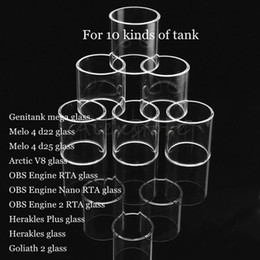 $enCountryForm.capitalKeyWord Australia - Genitank mega Melo 4 d22 d25 Arctic V8 OBS Engine 2 RTA Nano Herakles Plus Goliath II Tank Atomizer Replacement Pyrex Glass Tube