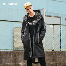 viishow men clothing UK - VIISHOW 2017 New Trench Coat Men Brand Clothing Top Quality Male Long Trench Coat Hot Sale Windbreaker Streetwear FC2171173
