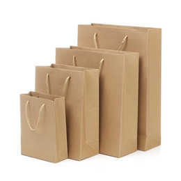 Paper Gift Bags Handles Christmas UK - 5 Size kraft paper Gift Bag With Handle Wedding Birthday Party Gift Christmas New Year Shopping Package Bags LZ1339