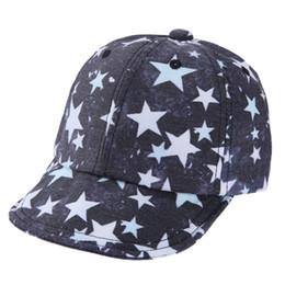 Niños lindo gorra de béisbol infantil bebé recién nacido estrellas patrón  de algodón Sun Hat para niño niña niños niños casquillo ajustable 60a447be8cd