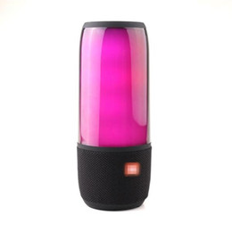 SenSor Speaker online shopping - 2018 popular new colorful LED light bluetooth speaker music pulsating wireless portable outdoor sensor button key bass woofer caixa de som