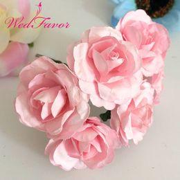 $enCountryForm.capitalKeyWord Australia - 144pcs 3.5cm Artificial Mulberry Paper Flowers Artificial Scrapbooking Rose Bouquet for Garland Corsage Box Wedding Home Decoration
