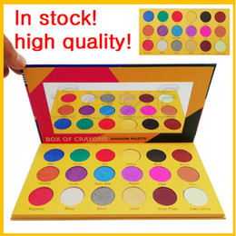 wholesale cheap eyeshadow palettes UK - Best makeup Box of Caryons eyeshadow for cheap 18 colorful face eye Ishadow palettes powder in 2018 cosmetics wholesale brands free shipping