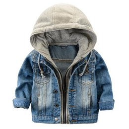 63499b1840e85 Fashion Denim baby Boys Children outerwear coat fashion kids jackets for Boy  girls jacket hooded Spring Autumn children clothing