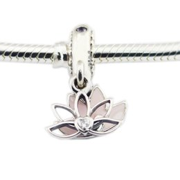 $enCountryForm.capitalKeyWord Australia - 2018 Mother Day Authentic 925 Sterling Silver Bead Serene Lotus Flower Pendant Charm Fit Original Pandora Bracelet Bangle Diy Jewelry