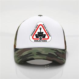 $enCountryForm.capitalKeyWord NZ - Latest model Summer Sale World War 2 hat Tanks Game Letter Printing Baseball Caps Fashion cool mesh trucker hats