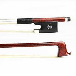 Natural Violin Canada - NEW 4 4 Size Hard Carbon Fiber Violin Bow Pernambuco Skin,Natural Mongolia Horsehair Ebony Frog Strong Violin Parts Accessories