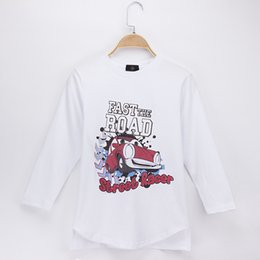 Baby Boy T Shirt Cars Canada - 2018 Children Clothes Kids T-shirts Full Street Reacer Car Cartoon Print 100% Cotton Child Shirt Boys Long T Shirts Grils Baby Tops Teen Tee