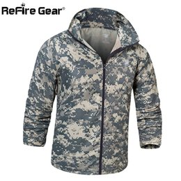 8349fca78c9 Navy Seals Army Tactical Camouflage Skin Jacket Men UPF50+ Thin Waterproof  Raincoat Windbreaker Breathable Hood Military Clothes D18101306