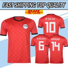 e672c3dd7 DHL free shipping 2018 Egypt Soccer Jersey M. SALAH 10 world cup Home Red  18 19 KAHRABA national team men short sleeve footbal SHIRT maillot cheap  orange ...