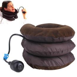 Cuidados de saúde Ar Travessia Cervical Do Pescoço Macio Dispositivo de Apoio Cervical Tração Traseira Ombro Alívio Da Dor Massageador Relaxamento em Promoção