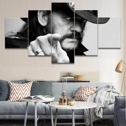 Art Canvas Prints Australia - 5 Pieces Canvas Printed Painting Music Motorhead Decoration Wall Art Pictures Painting Singer Poster Home Decor Bedroom Cuadros Y18102209