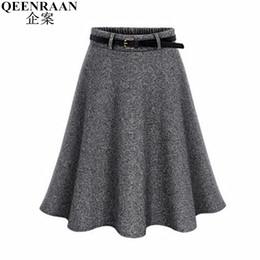 dc8d9d408f 2017 new outono inverno mulheres saia plus size m-6xl saias de lã plissadas  midi saia saias plissadas moda mini tutu saias faldas