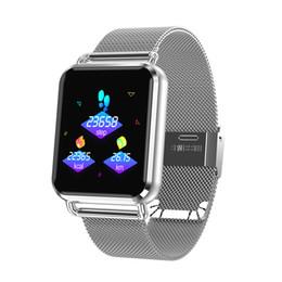 9e05ab323eed Relojes inteligentes Reloj digital para hombres Monitor de ritmo cardíaco  Recordatorio de llamadas Rastreador deportivo Relojes de pulsera  inteligentes para ...